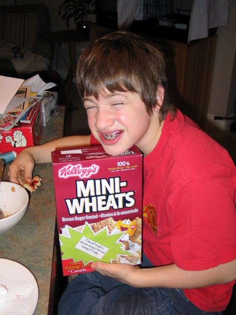 Chris and his cereal.